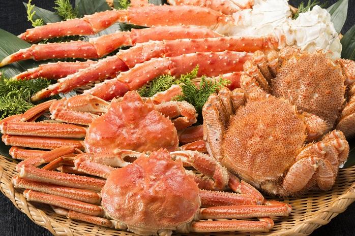 蟹の盛り合わせ